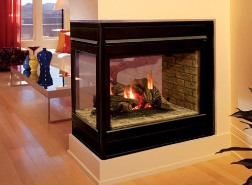 3 Sided Fireplace - Impressive Climate Control