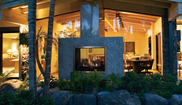 Outdoor See Through Fireplaces Ottawa Indoor Outdoor