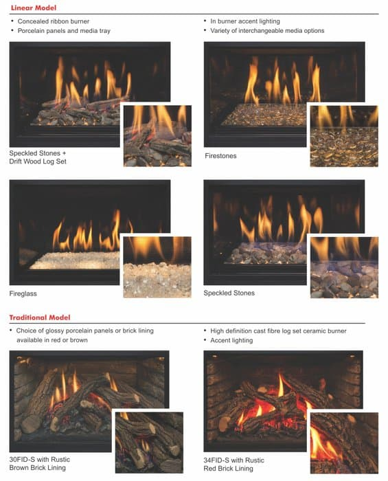 Montigo i series fireplace insert impressive climate control for Fireplace insert options