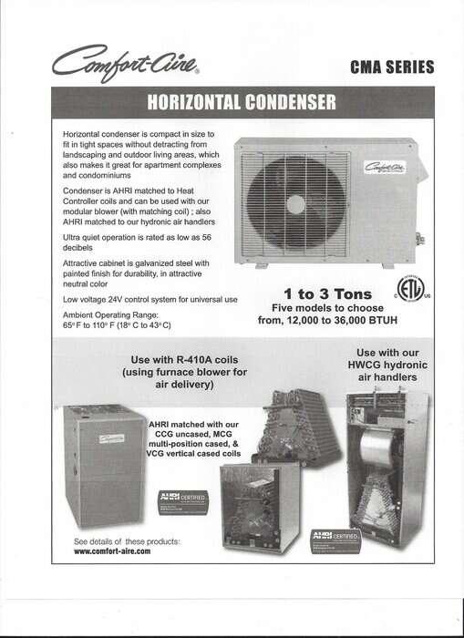 Comfortaire Horizontal Air Conditioner Ottawa Impressive